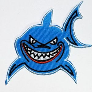 Accessories - Shark Patch Iron On Patches DIY Applique ocean